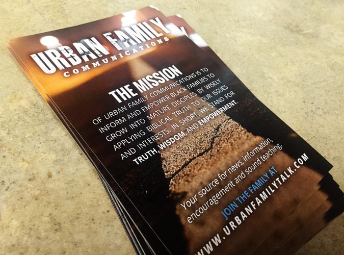 Urban Family postcard flyer