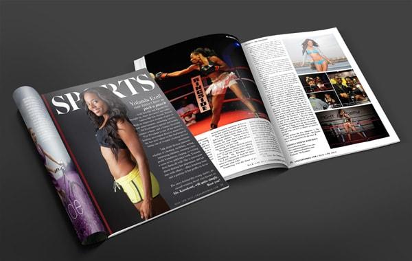 Magazine Layout Design - Sports