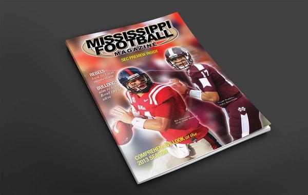 Mississippi Football Magazine Cover Design
