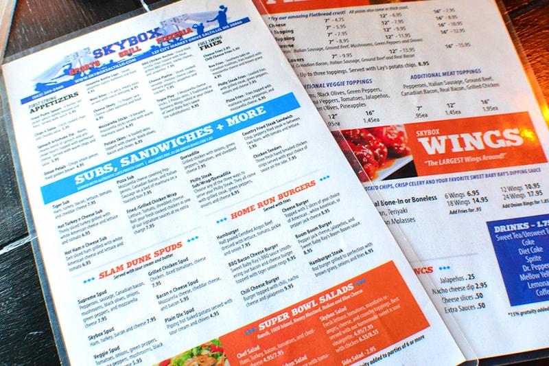 Skybox menus