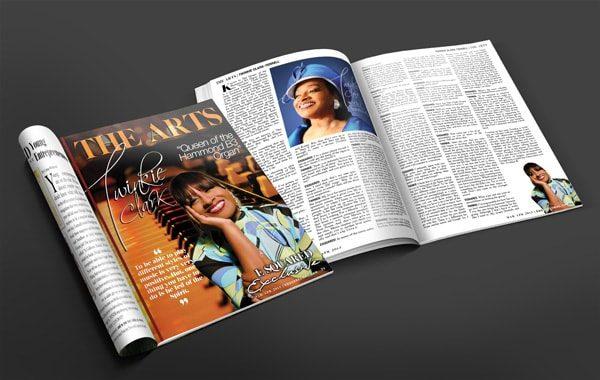 Twinkie Clark magazine spread
