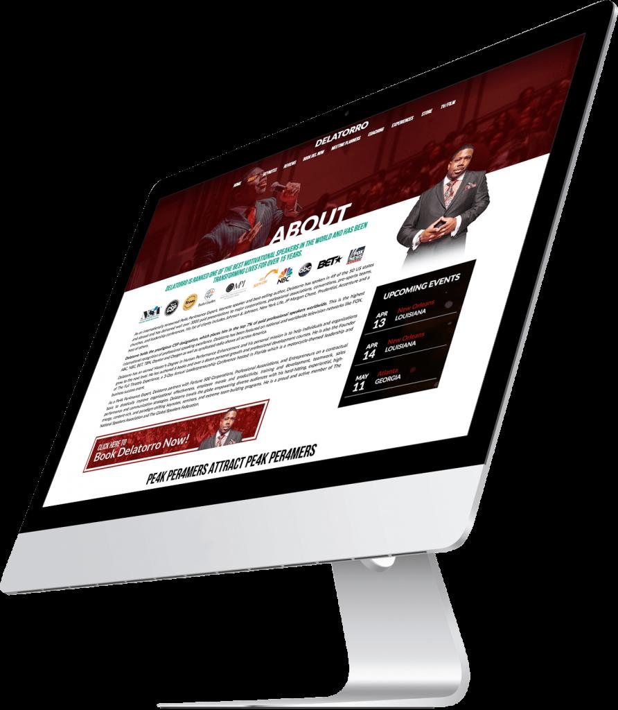 Delatorro McNeal website design